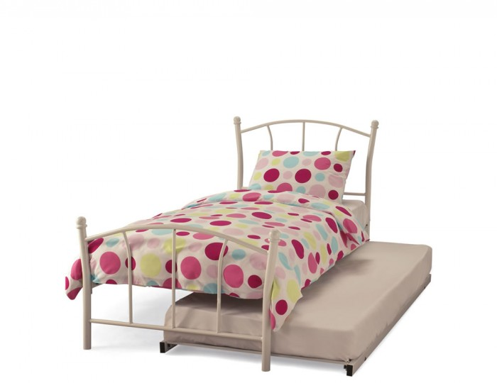 Penelope White Metal Guest Bed