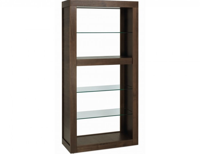Akita Walnut Amp Glass Open Display Unit