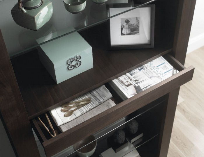 Akita Walnut Open Display Unit