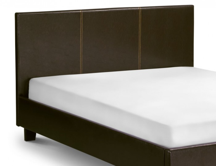 Cosmo Brown Faux Leather Bed