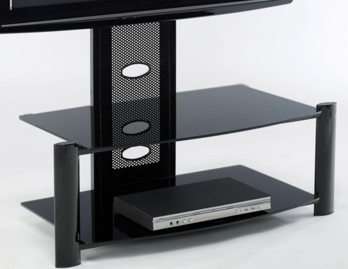 Aruba Black Glass TV Stand