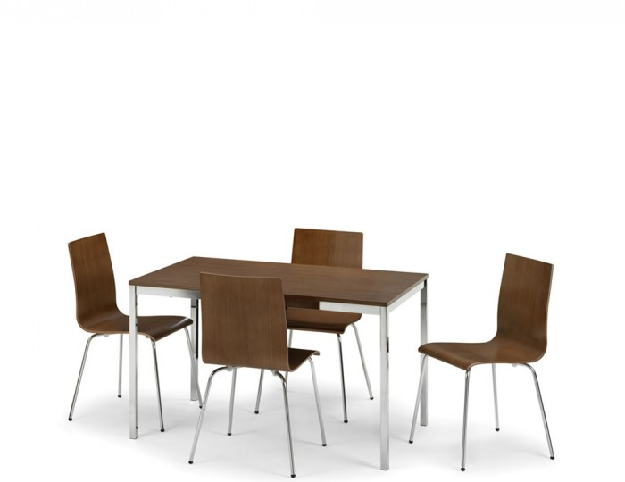 Tobago Rectangle Walnut Dining Table and Chairs
