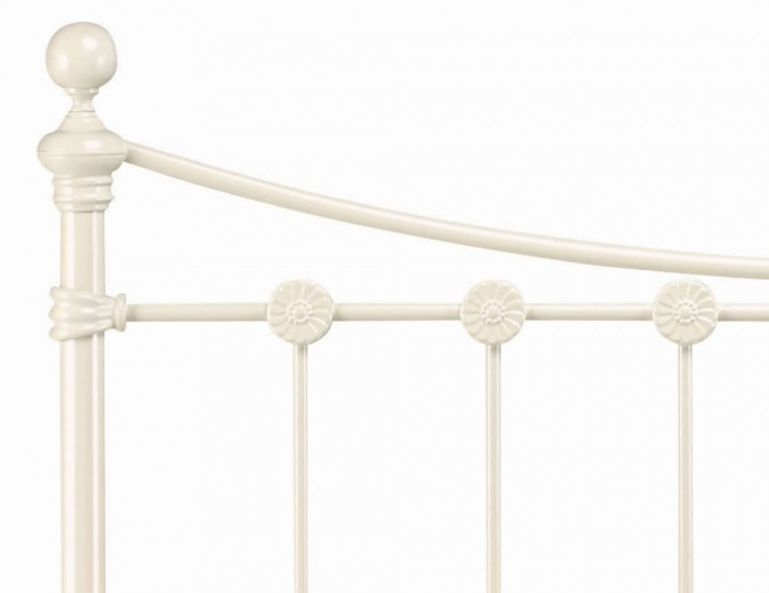 Alice White Metal Bedstead
