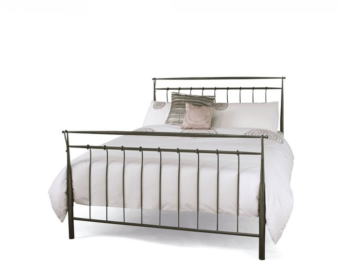Elizabeth Titanium Grey Metal Bed Frame
