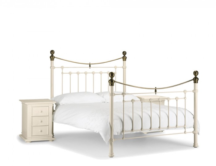 Victoria White Metal Bed Frame