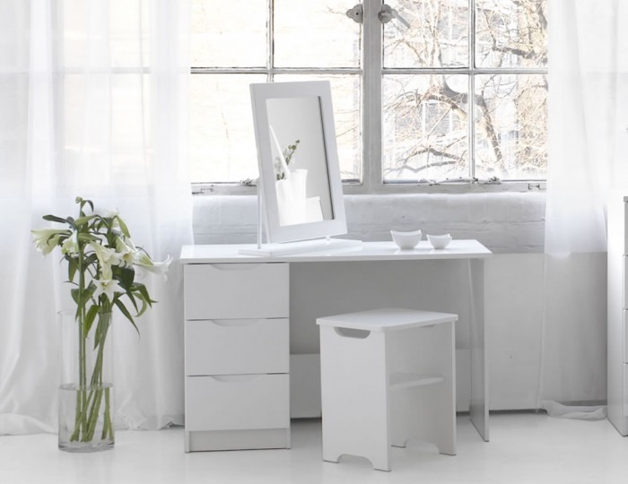Genial Trend White High Gloss Dressing Table