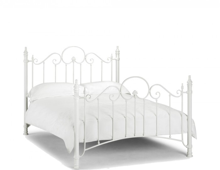 Andria Off White Metal Bed