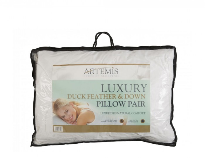 Duck Feather and Down Pillows - Pack of 2