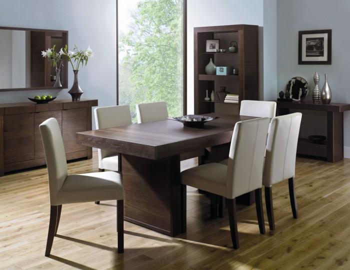 Akita Walnut Dining Table and Chairs
