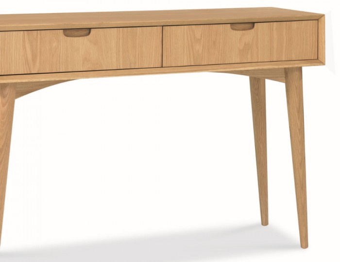 Orbit Oak Console Table with Drawers