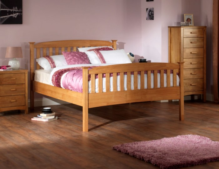 Eleanor Hevea Oak High Foot End Bed Frame