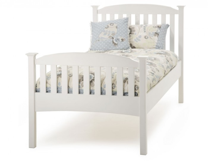 Eleanor Hevea White High Foot End Bed Frame