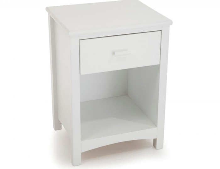 Eleanor Hevea White Bedside Table