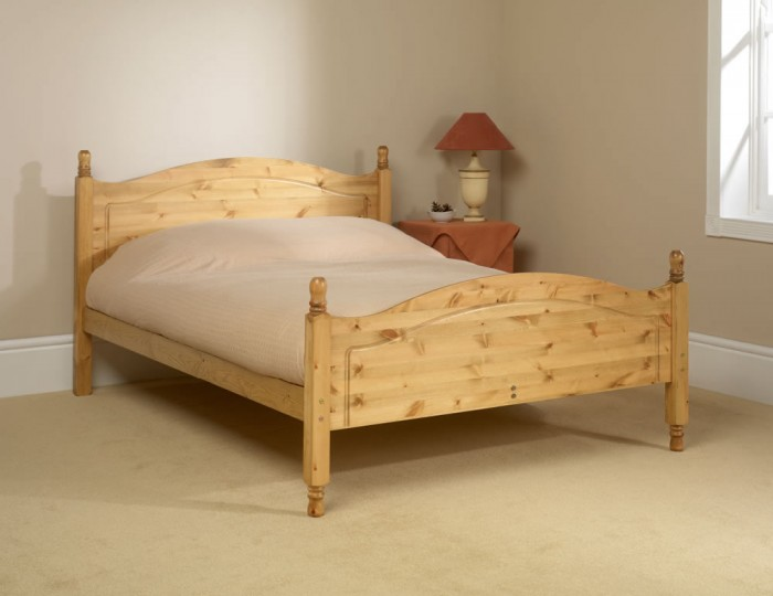 Orlando High Footend Pine Bed Frame