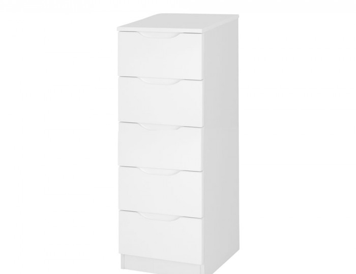 Trend White High Gloss Tallboy Chest