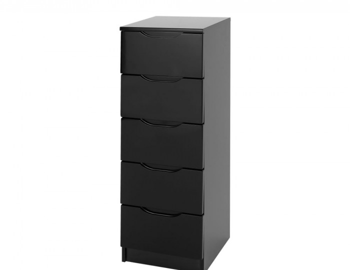 Vogue 5 Drawer Tallboy High Gloss Chest