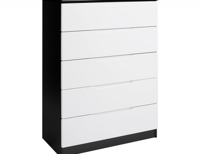 Vogue 5 Drawer High Gloss Chest