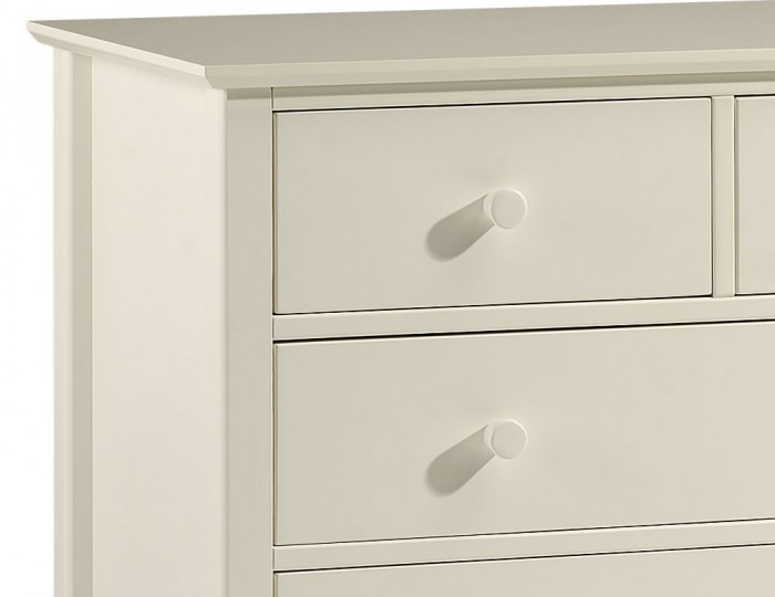 Cameo 3+2 Drawer Off-White Chest
