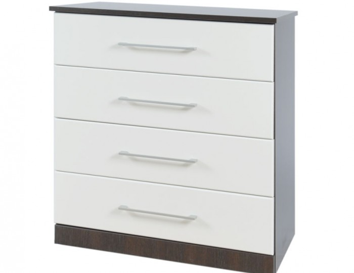 Havana White 4 Drawer Fronted Chest