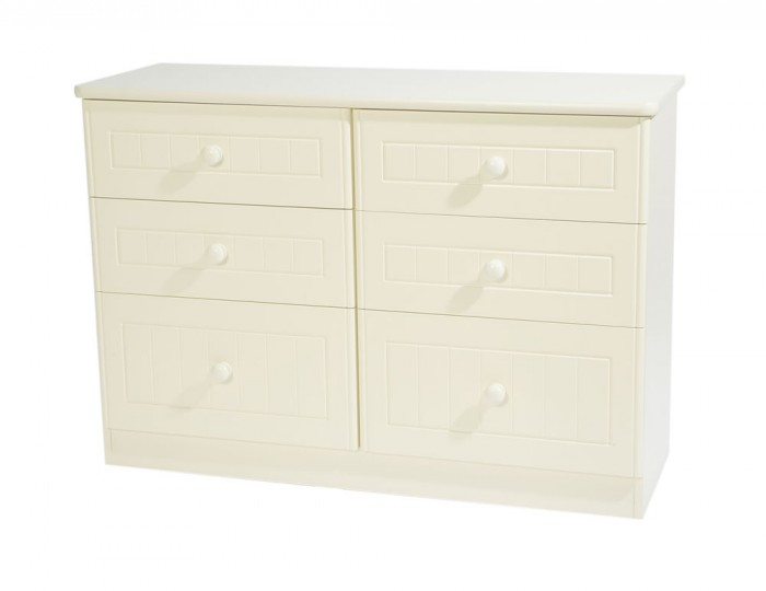 Avimore 6 Drawer Cream Chest