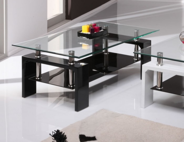 Genial Parma Black Glass Coffee Table