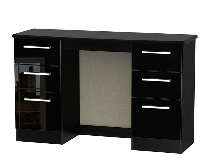 Knight Double Black High Gloss Dressing Tables - Black gloss dressing table