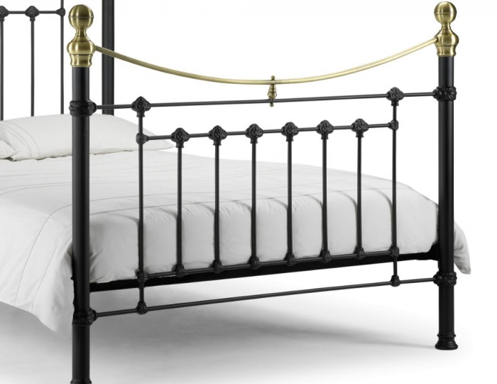 Victoria Black Metal Bed Frame