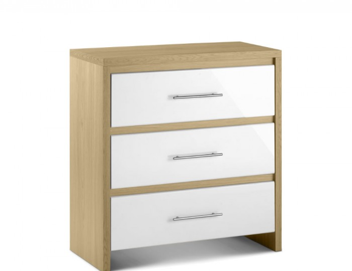 Helsinki 3 Drawer High Gloss Chest