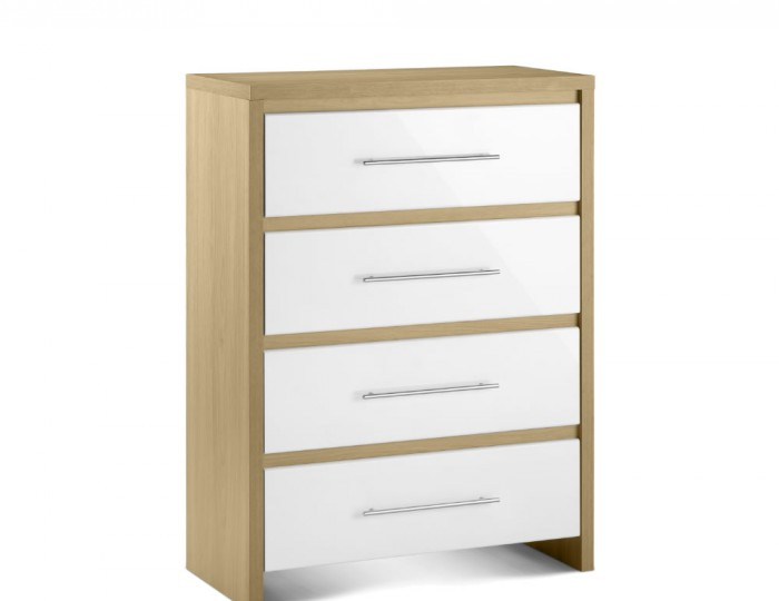 Helsinki 4 Drawer High Gloss Chest