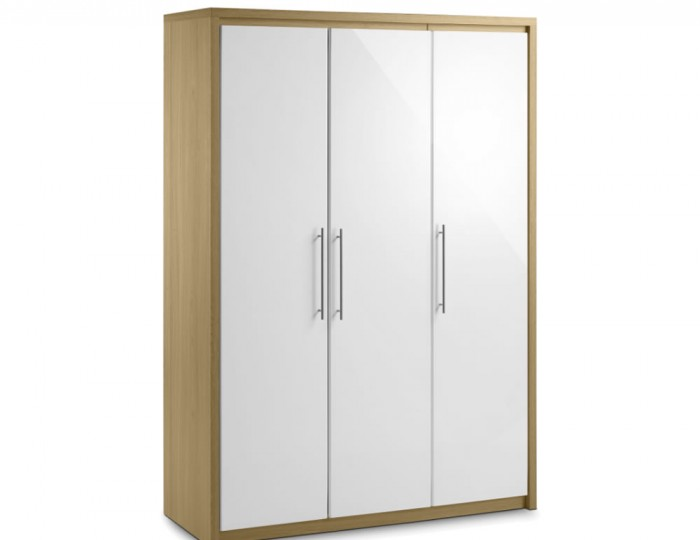Helsinki 3 Door High Gloss Wardrobe