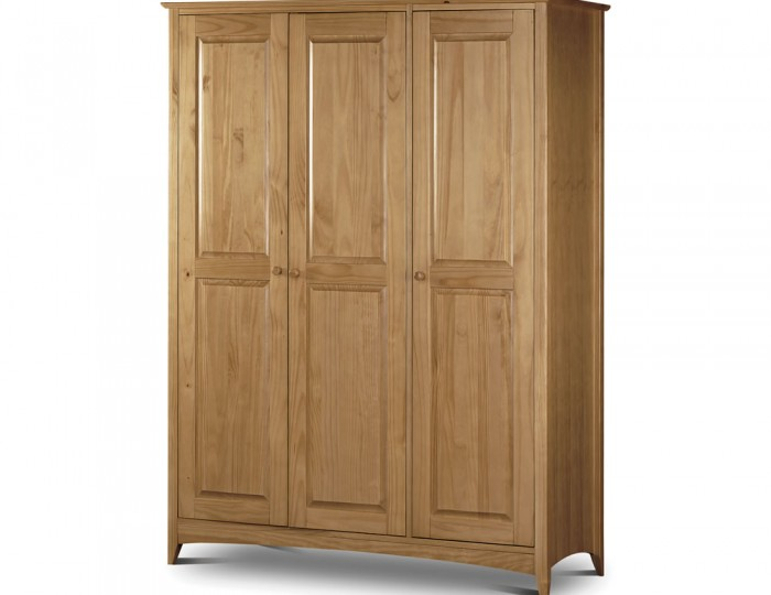 Kendal 3 Door Solid Pine Wardrobe