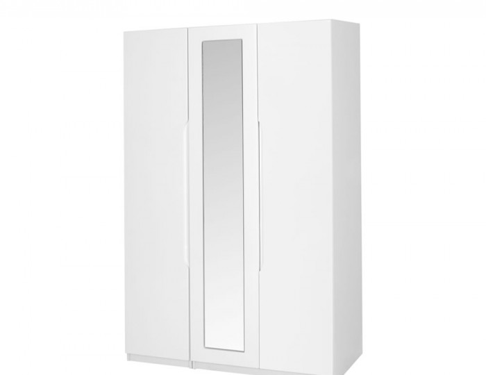 Trend 3 Door Tall White High Gloss Wardrobe