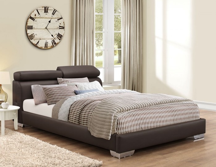 Austin Brown Faux Leather Bedstead
