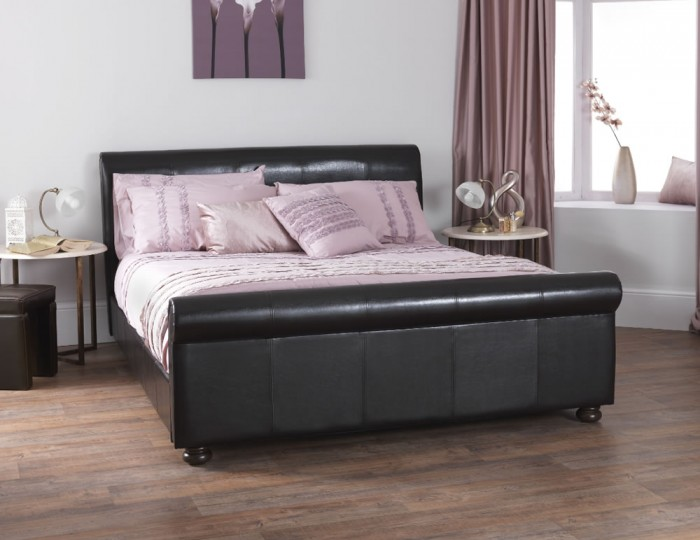 Finsbury Brown Bonded Leather Bedstead