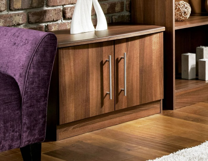 Alora Walnut 2 Door Low TV Unit