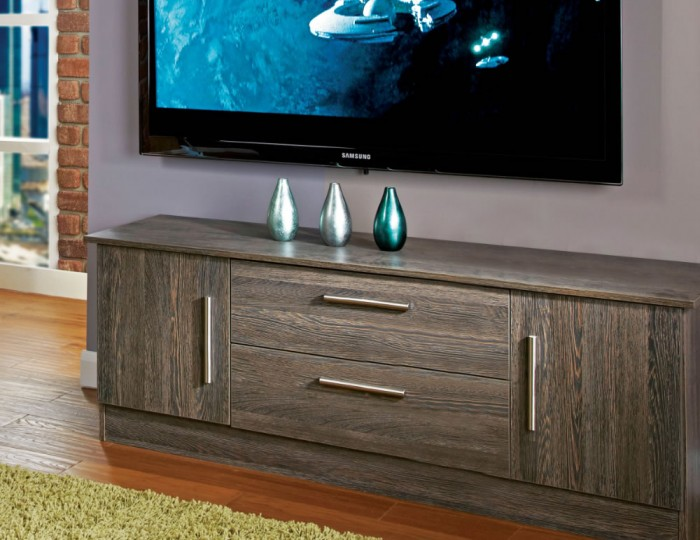 Salas Panga 2 Door 2 Drawer Wide TV Unit