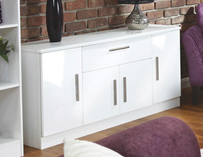 Vista High Gloss 4 Door 1 Drawer Sideboard