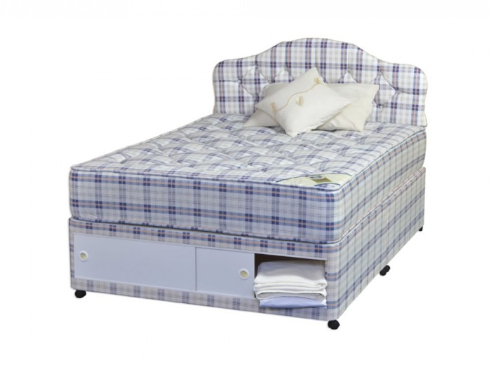 Rome Orthopaedic Divan Bed Set - FREE SLIDER