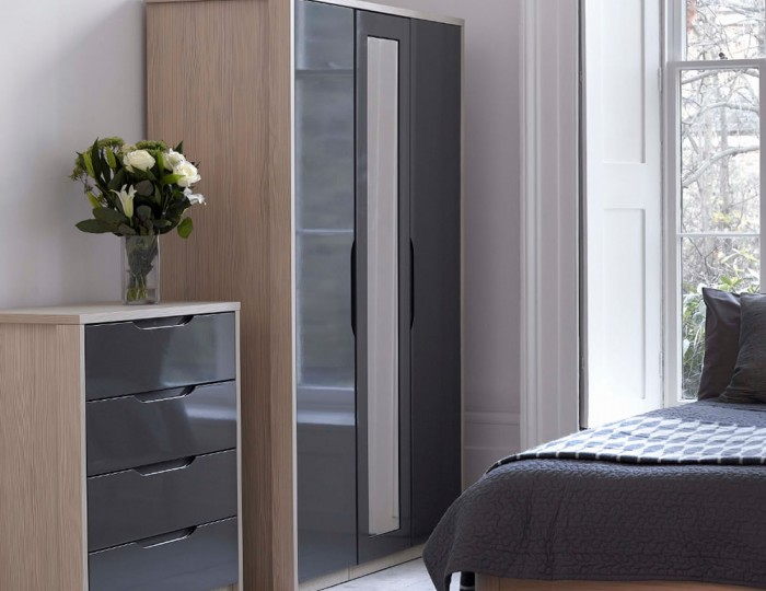 Affinity 3 Door High Gloss Wardrobe