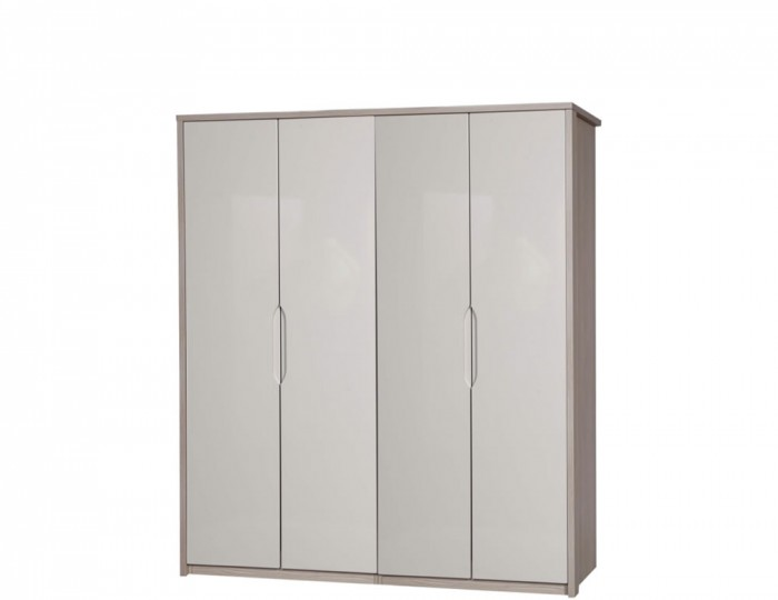 Affinity 4 Door High Gloss Wardrobe