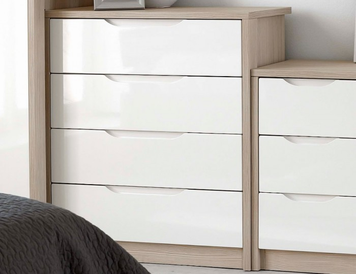Affinity 4 Drawer High Gloss Chest