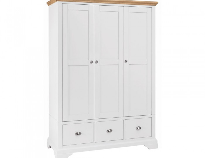 Hampstead Two-Tone Triple Wardrobe