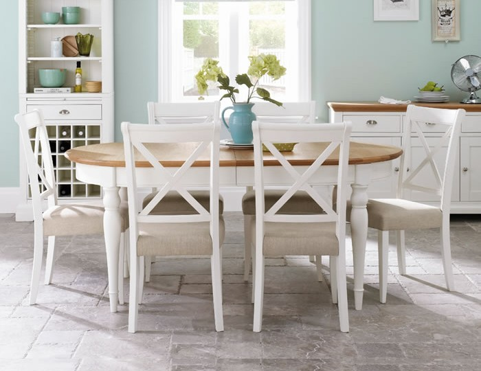 Hampstead Two-Tone Extending Dining Table and Chairs