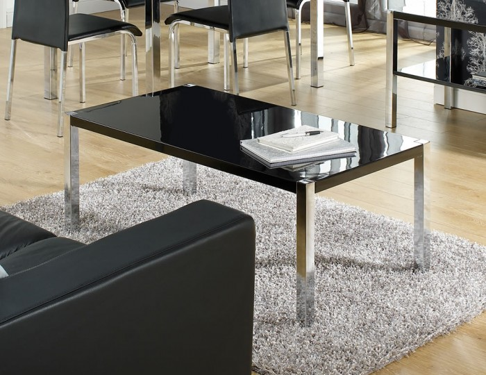 Theo Black High Gloss Coffee Table