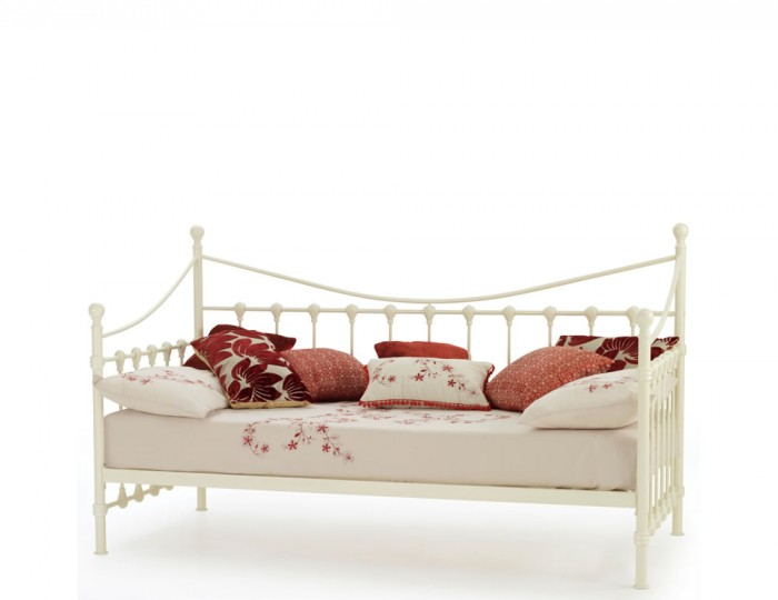 Marseille 3ft Ivory Metal Day Bed