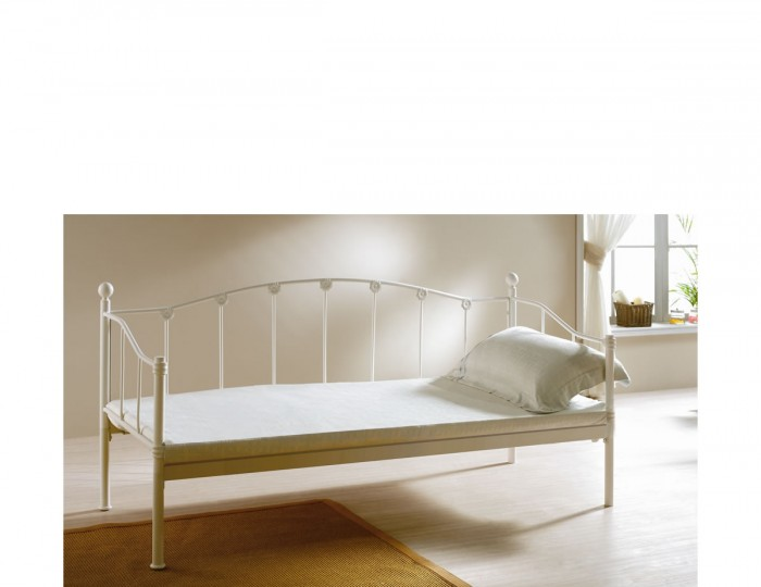 Monaco 2ft 6 Ivory Metal Day Bed