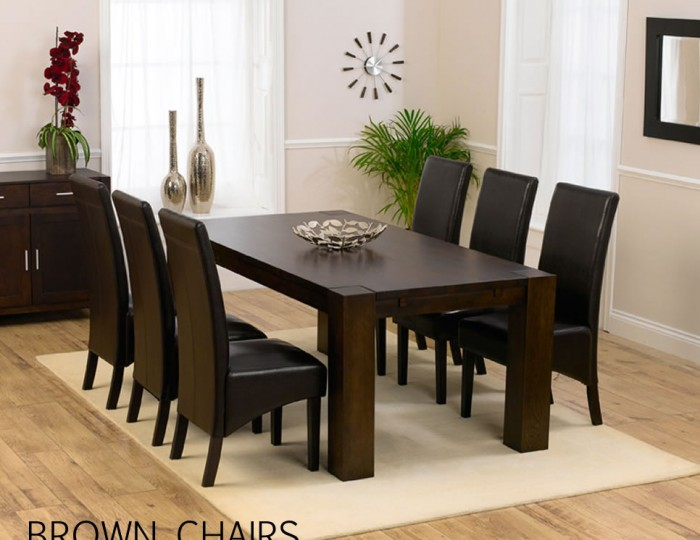 Madrid Dark Oak Dining Table And Chairs