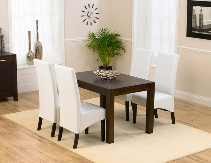 Whistler Dark Oak 120cm Dining Table and Chairs