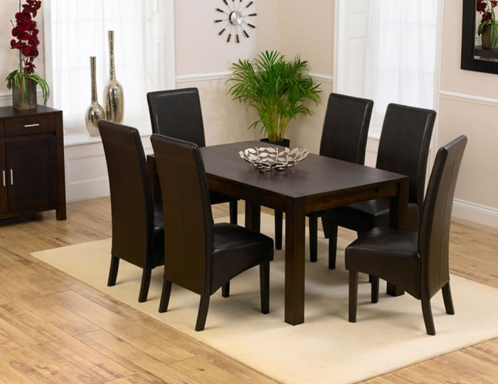 Whistler Dark Oak 150cm Dining Table and Chairs