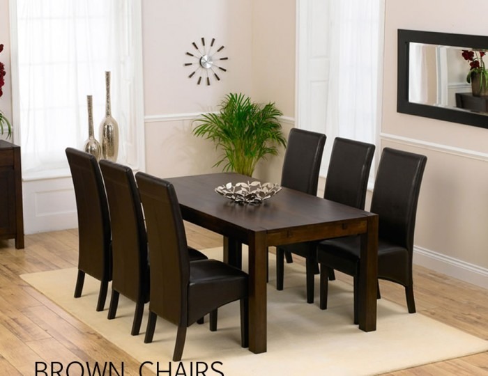 Whistler Dark Oak 180cm Dining Table And Chairs